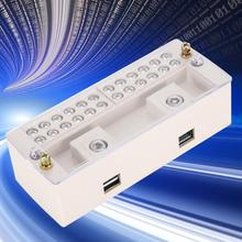 JHD-6/B 2 in 12out Single Phase Household Meter Terminal Row Electrical Enclosure Junction Box diy case