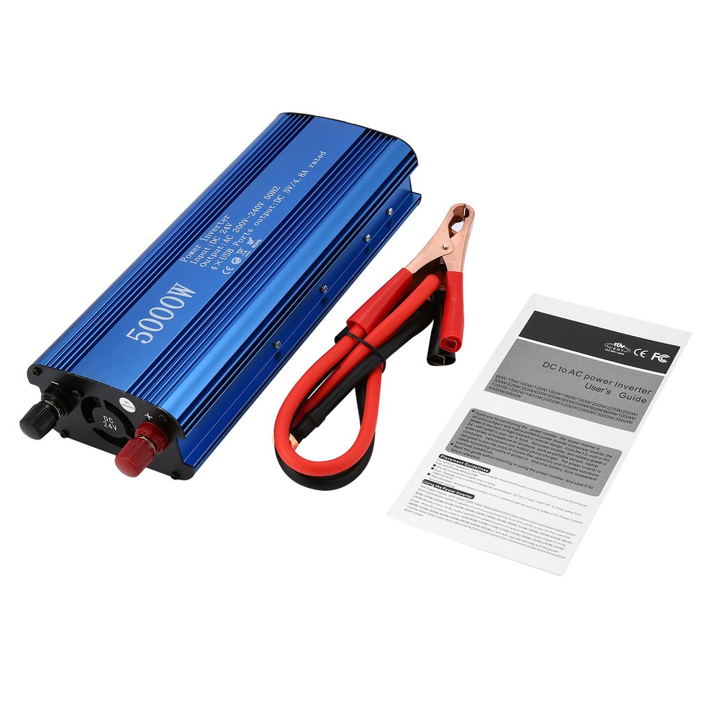 Professional 3000W/5000W Power Inverter DC to AC Home Fan Cooling Side LED Display Car Converter for Household Appliances|  - title=