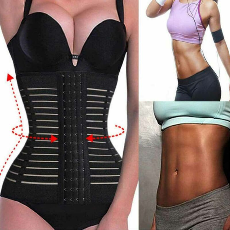 Meihuida Breathable Corset Waist Trainer Fitness Control Body Shaper Sport Body Belt Slimming Model Tape