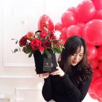 HH0235G Hug bucket flowers eternal flower materials Valentine's Day wedding decoration gift box