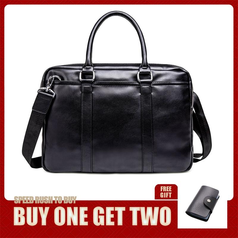 New Arrival Briefcase Luxury Leather Man Messenger Bag Bag Set Men's Briefcases Business Laptop Bag Men Handbag Bolsa Maleta