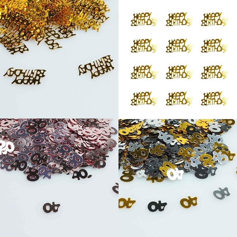 15g Gold Confetti Digitals Number 30 40 50  Happy Birthday 1st Happy Birthday Decor Little Star Princess Baby Shower
