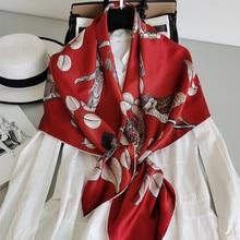 цена на KMS Silk scarf, spring style, pure silk, silk satin, wild square scarf 110*110CM/30G