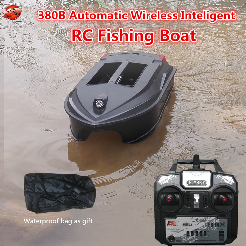 High Speed Large Intelligent Electric Wireless Control Fishing <font><b>Boat</b></font> 380B 2.4G Waterproof Dual <font><b>Hull</b></font> Auto RC Lure <font><b>Boat</b></font> <font><b>Boat</b></font> <font><b>Model</b></font> image