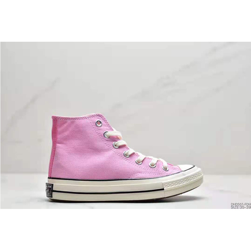 Converse Classic 1970s Canvas Shoes Casual Sports Skateboard Shoes Ladies Low Top Pink Fashion Vulcanized Sole