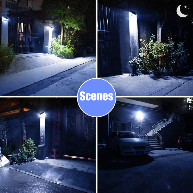 Solar Lights Outdoor 208Leds Ip65 Waterproof Wireless Motion Sensor Light 270 ° Wide Angle  Wall Lights Solar Lamp With 3 Modes 6