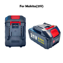 Used to replace 21V 2.0AH 4.0AH 6.0AH flat push large-capacity charging display power tool battery for Makita