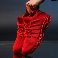 Mens Shoes Casual Fashion Sneakers for Men Plus Size 48 Black Red Shoes Man Comfortable Sneakers Male Krasovki Zapatillas Hombre