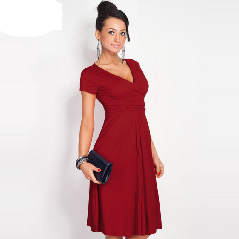 Large Size Women Clothes 2020 Elegant Vintage Summer Fashion Style Sexy Tunic Work Office Casual Party A-Line Dress Robe Female