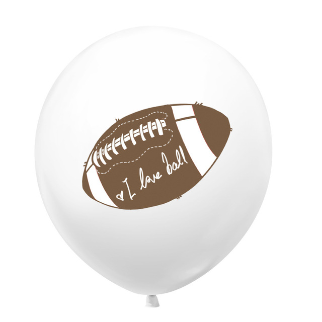 5//10//pcs 12 inch Rugby Theme Party Decor Happy Brithday Football Latex Balloon