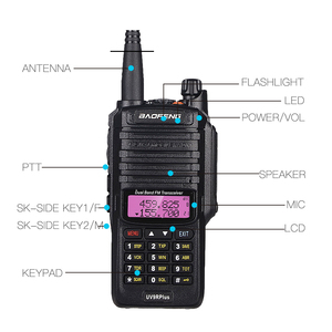 Image 3 - 2020 10W Baofeng UV 9R plus Waterproof Walkie Talkie UV 9R Plus Dual Band Portable CB Ham Radio 10KM hf transceiver Transmitter