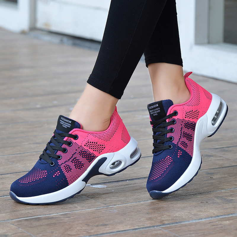 Ladies Trainers Casual Mesh Sneakers Women Flat Shoes Soft Sneakers Tenis Breathable Footwear Basket Shoes Zapatos De Mujer