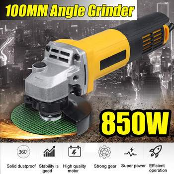 220V 850W Electric Angle Grinder Anti-Slip Polishing Polisher Grinding metal stone wood Cutting Woodworking Grinder Power Tool