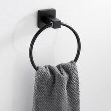 Черный держатель для полотенец круглый настенный держатель для купания стойка из нержавеющей стали кухонные аксессуары для ванной комнаты