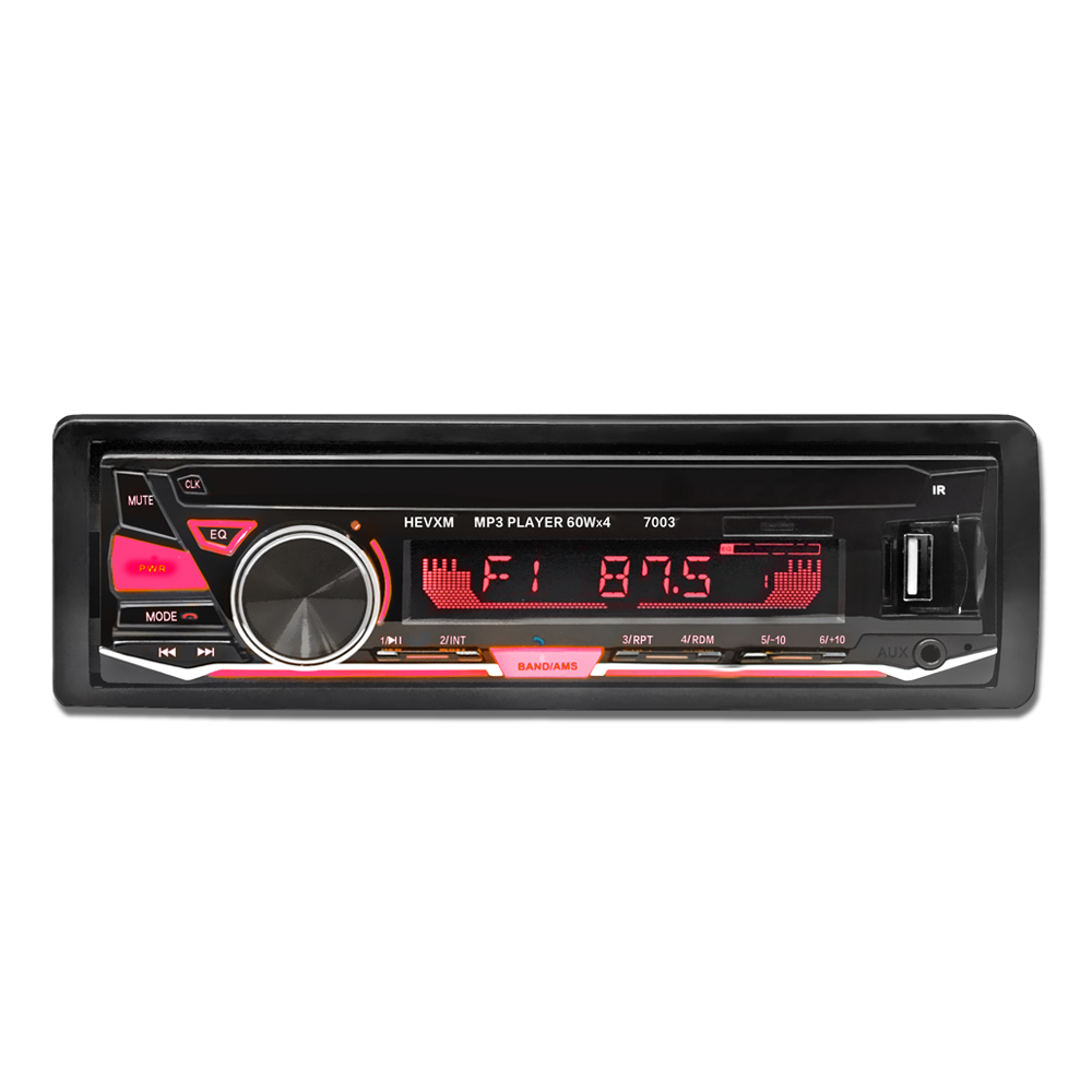 12V Bluetooth Car Radio Player Stereo FM MP3 Audio 5V Charger USB SD MMC AUX Auto Electronics In Dash Autoradio 1 DIN NO CD|Car Radios| |  - title=