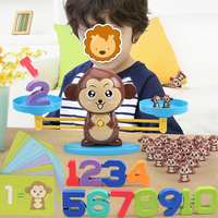 Math Match Game Board Toys Monkey Balance Cool Math Game Weighing Scale Math Counting Fun Toys Christmas Gift 3
