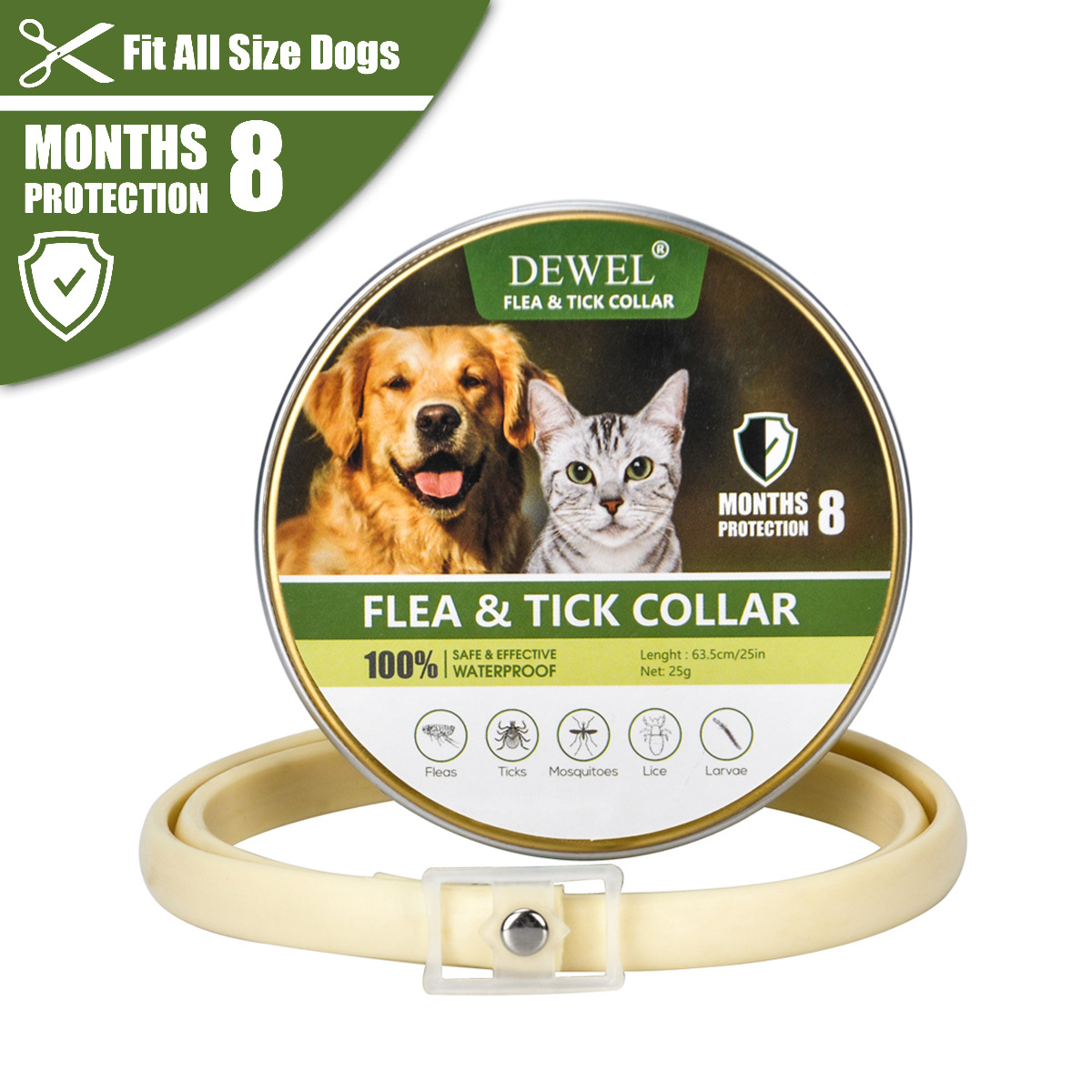 Dog Insecticide Essential Oil Flea Pet Collar Dog Neck Ring Flea Repellent Insecticide Dogs And Cats Universal Neck Ring
