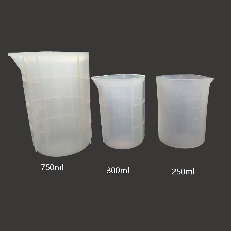 100/250/300/750ml Disposable Silicone Measuring Cup Glue Measuring Tools Scale Jewelry Resin Molds For Jewelry Making Tool