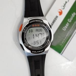 Image 2 - Muslim Sport Wristwatch with Qiblah Alfajr Time Azan Alarm Watch Waterproof