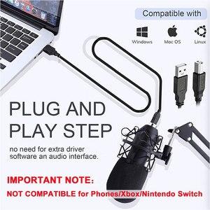 Image 4 - Micrófono de condensador USB para ordenador, Kit de micrófono de transmisión de Podcast, PC, 192KHZ/24 bits