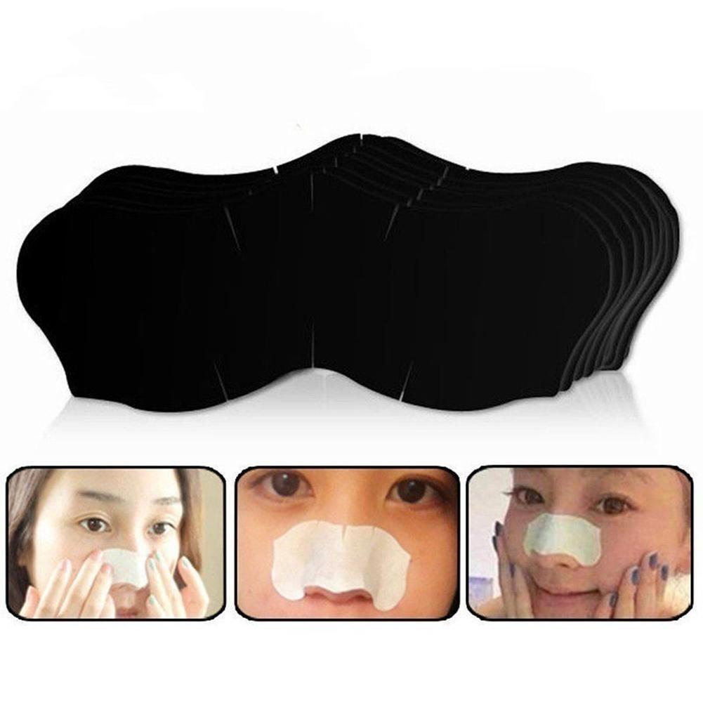 Stickers Set Cleasing Strips Nose Sticker Bamboo Charcoal Mask Strips Face Acne Tool Clear Remover Blackhead Nose Black Hea P1E2