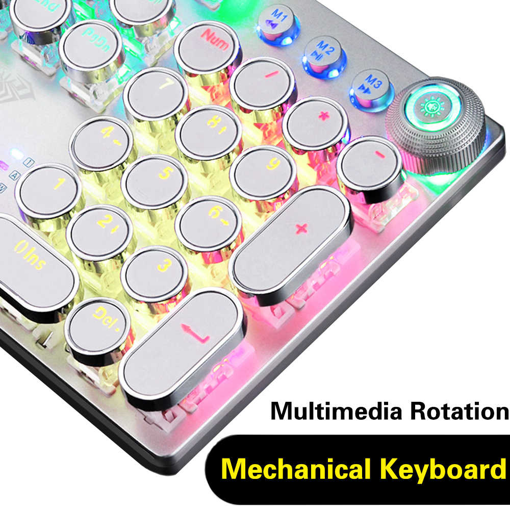 2020 nowa gra klawiatura mechaniczna 104 klawisze klawiatura komputerowa klawiatura laptopa biały punk keycap rosyjski hebrajski hiszpański arabski