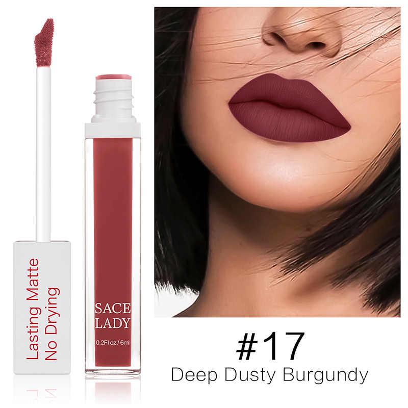 חדש מט זיגוג שפתיים איפור 23 צבעים לאורך זמן שפתון נוזלי שפתיים גוון עמיד למים קוסמטיקה CLA88