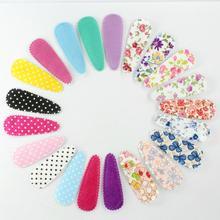 70 шт упаковка ткань оснастки клип Цветные Цветочные зажимы для волос, аксессуары для волос, ткань покрыты шпильки для девочек