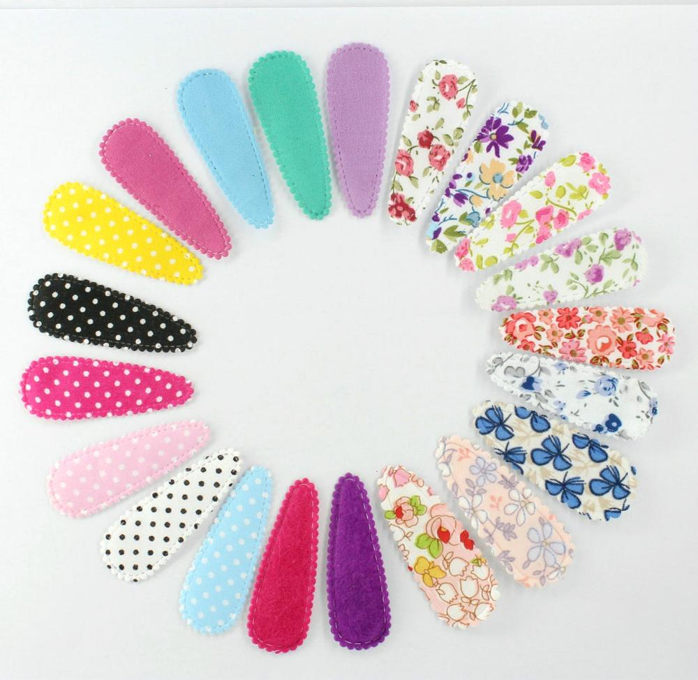 70pcs Pack Fabric Snap Clip Coloful Floral Hair Clips,Hair Accessoies,Fabric Covered Hairpins For Girls
