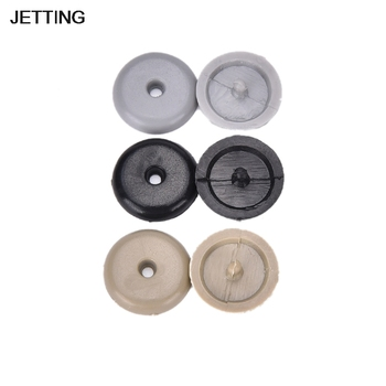 2pcs Safety Car Parts Black Beige Plastic Car Safety Seat Belt Stopper Spacing Limit Buckle Clip Retainer Seatbelt Stop Button image