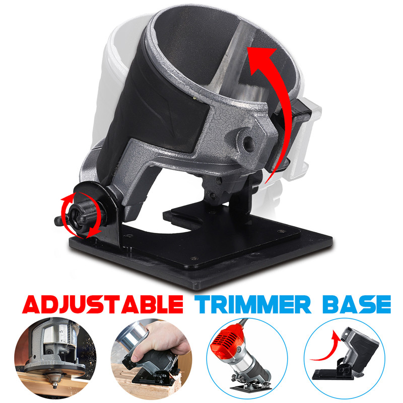 Image 5 - Adjustable Balance Trimmer Base Shield Wood Work Shank Trim Router Edge Molding 220V 800w Electric Hand Trimmer Woodworking Tool-in Electric Trimmers from Tools on