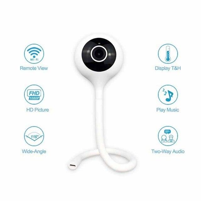 Wdskivi minicámara IP inalámbrica WiFi, WiFi, vigilancia de seguridad, aplicación cloudge, Monitor para bebés, detección de temperatura y humedad, 1080P