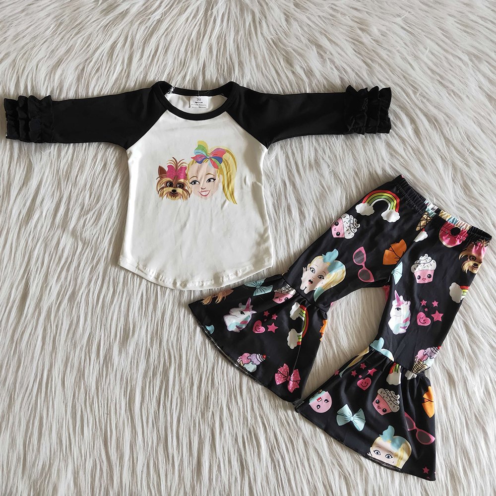 US $4.4 Hot Sale Infant Baby Girls Clothing Casual Wear 4 pcs Outfits  Children Clothes Kids Designer Clothes Girl Fall Winter Clothing  -