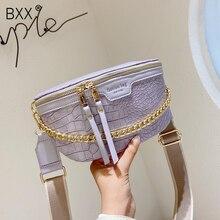 [BXX] Crocodile Pattern PU Leather Crossbody Bags For Women 2020 Summer Shoulder