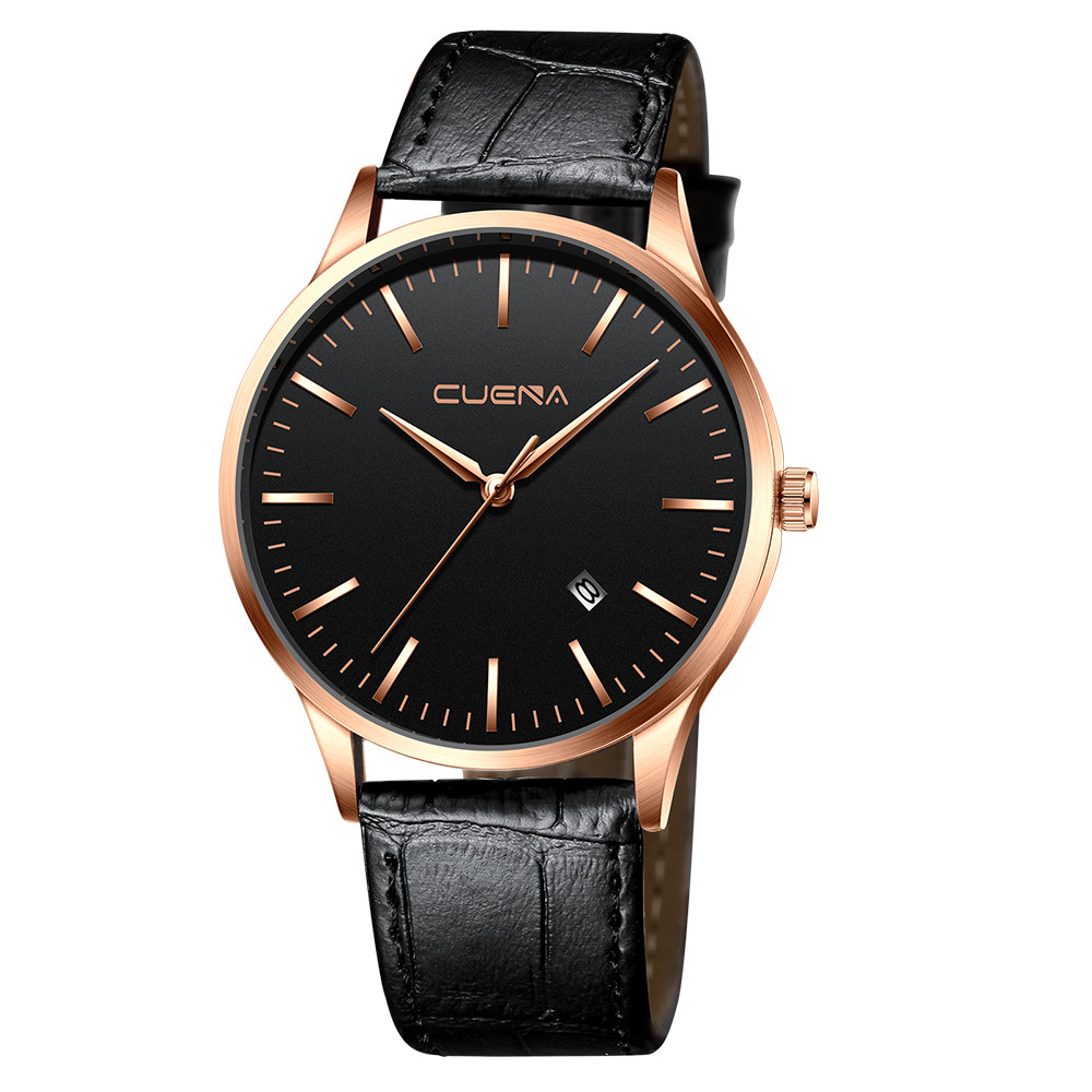 Simple Men's Sport Leather Band Watches Male Stainless Steel Case Quartz Wrist Watch Men Business Clock Relogio Masculino /d