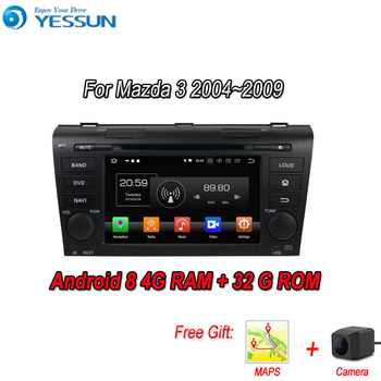 YESSUN Android 8.0 4G RAM For Mazda 3 BK 2004~2009 Car Navigation GPS Multimedia Player mirror link Radio Touch Screen Autoradio image