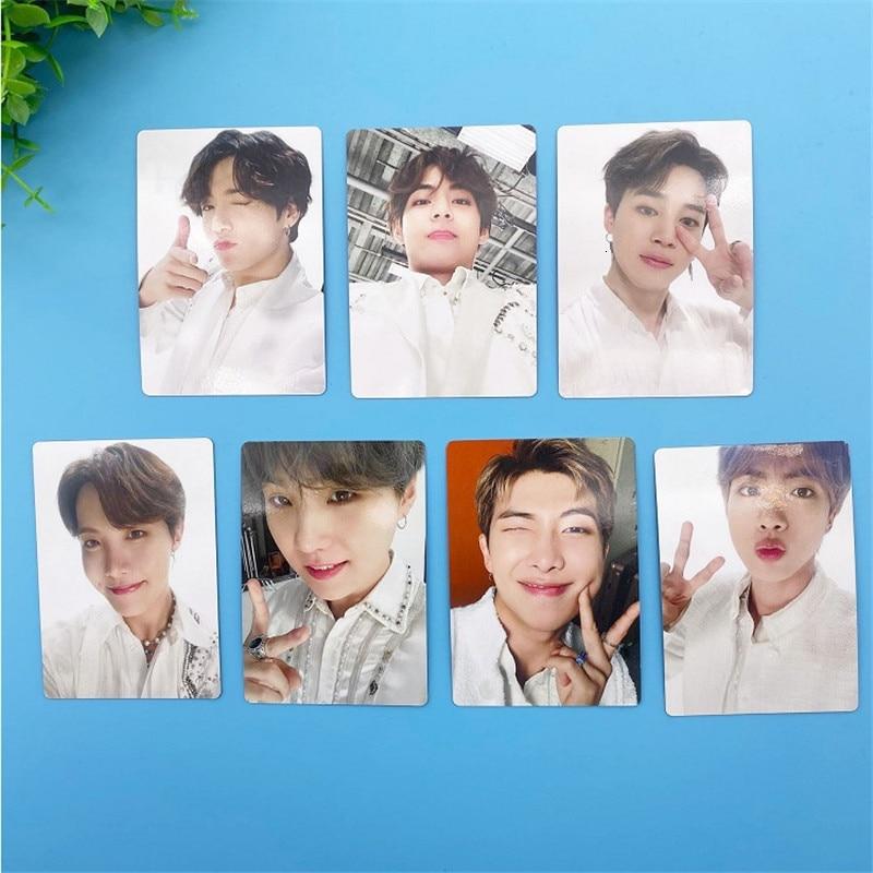 KPOP Bangtan Boys Photocard THE FINAL Album Seoul Field Same Paragraph SUGA V Made Paper Photo Card Poster KPOP HD Bangtan