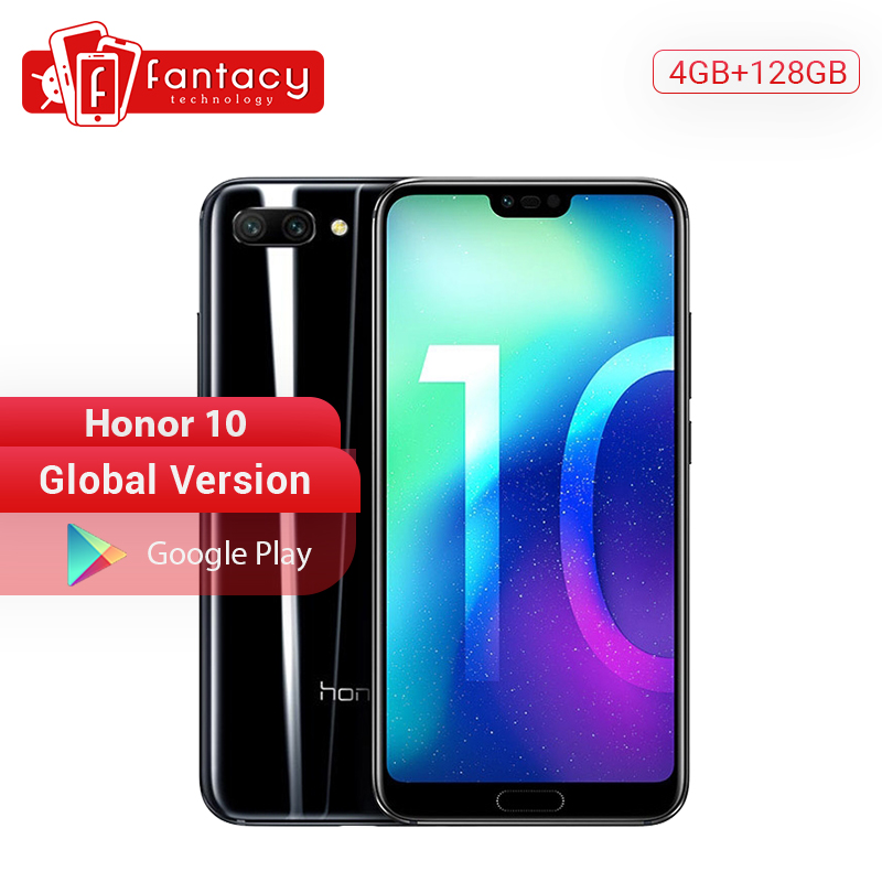 Global Version Honor 10 4GB 128GB Smartphone Kirin 970 Octa Core 24MP AI Camera 5.84'' Fingerprint Cell Phones Google Play NFC