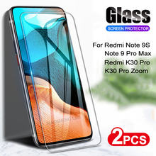 2pcs Tempered Glass For Xiaomi Redmi Note 9 Pro Max 9S K30 Pro Zoom Screen Protector Glass For Redmi note 9 s Protective glass