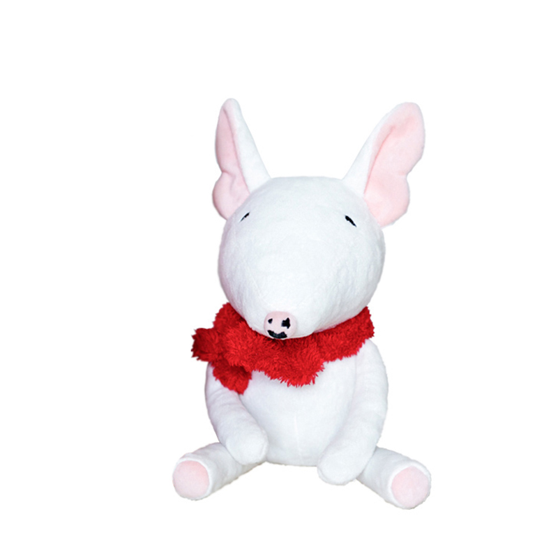 2019 New Arrival Plush Toy Bull Terrier Dog Doll Stuffed Toy Soft Puppy Dog For Kids Birthday Gift