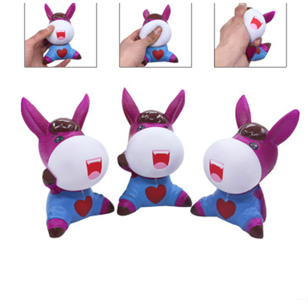 Stress Reliever Simulation Donkey Slow Rebound Toy Scented Slow Rising Kids Squeezable Toy  Sport Entertainment L1224