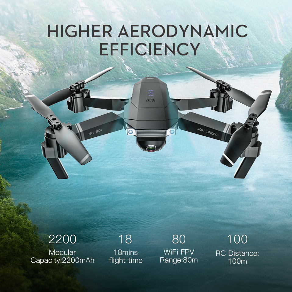 LAUMOX SG901 RC Drone 4K HD Camera/1080P WiFi FPV Professional Optical Flow Camera Drone 18 minutes RC Quadcopter VS Xs816 SG106