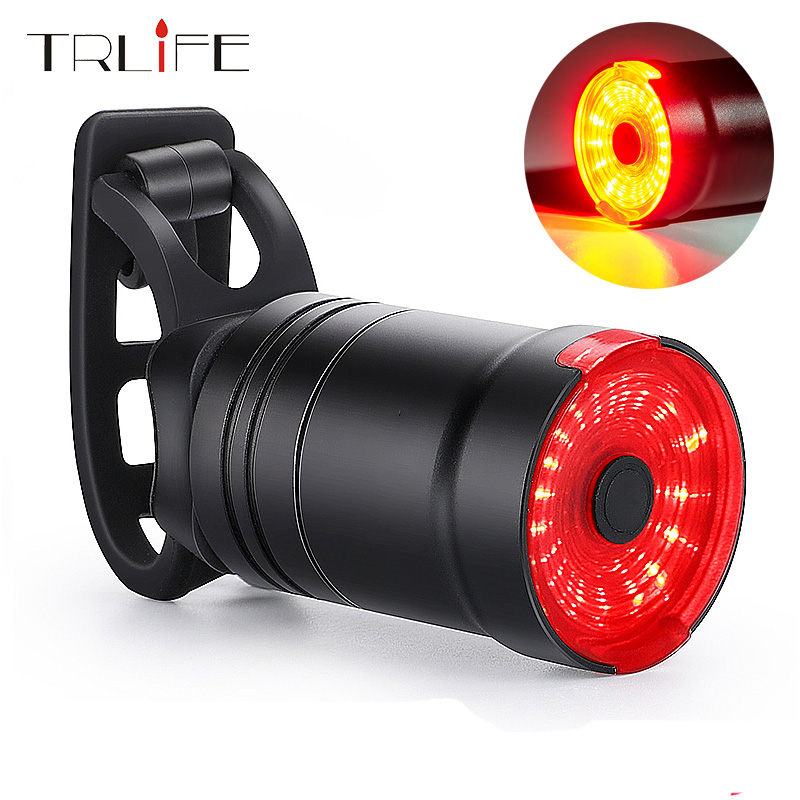 TRLIFE 1200mAh Bicycle Smart Taillight Auto Brake Sensing IPx6 Waterproof USB Charge cycling Rear light LED Bike Accessories