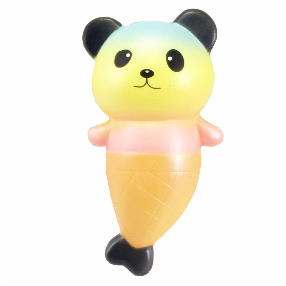 Cartoon Panda Fish Slow Rising Collection Toy Soft Squeeze Toy Stress Relief Novelty Fun Toys Gift For Children #B