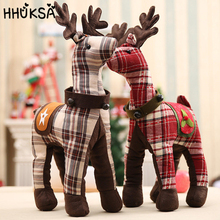 1Pc Christmas Decorations For Home Large Elk Doll Xmas Gift Plush Toy Give Kids Tree Decor New Year