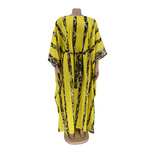 Image 5 - African Dresses For Women Dashiki Snake Pink African Clothes Bazin Broder Riche Sexy Slim Ruffle Sleeve Robe Evening Long Dress