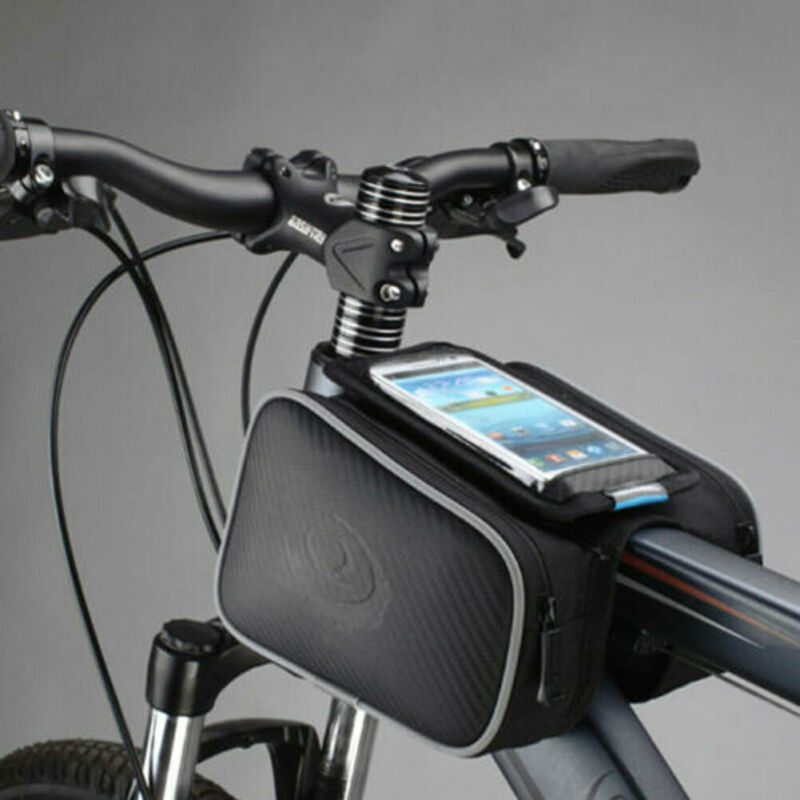 UK Accessories Frame Front Tube Bike Mobile Phone Bag Waterproof Cycling Touch Screen Pouch