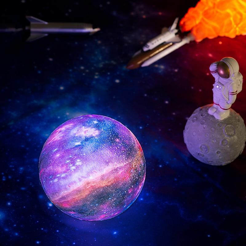 2019 New Dropship 3D Print Galaxy Lamp As Like Moon Lamp Best Christmas Lights Night Light In Room Star Moon Light Decoration