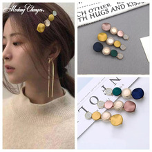 Korea Fashion Circle Acrylic Geometric Crystal Hairpins Barrette Colorful Hairgrips Hair Clips For Girls Woman Accessories