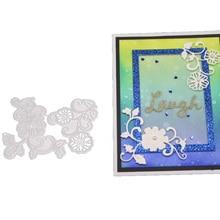 Flower Frame Metal Cutting Dies Lace Stencils Scrapbooking Decorative Embossing Paper Card DIY Carbon Steel Die Cuts carbon steel santa cutting die for diy